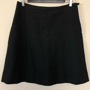Marc Jacobs black wool A Line Skirt